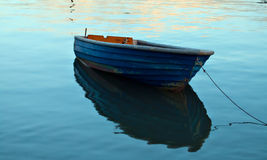 Lonely Wooden Boat Stock Image