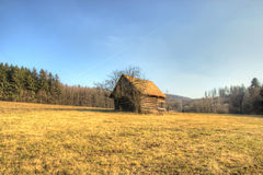 Lonely Wooden Cottage Royalty Free Stock Image