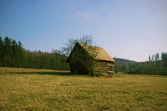 Lonely Wooden Cottage Royalty Free Stock Images