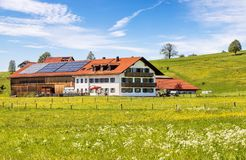 A traditional Bavarian spring landscape Royalty Free Stock Image