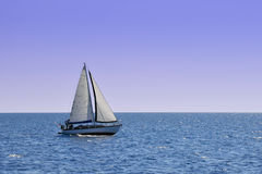 Lonely yacht Royalty Free Stock Image