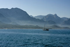 Lonely yacht Royalty Free Stock Photography