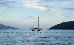 The lonely yacht Stock Photography