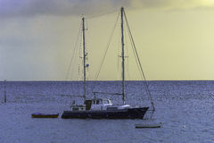 Lonely yacht Royalty Free Stock Images