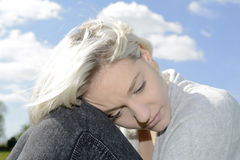 Lonely young woman Royalty Free Stock Photo