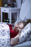 Lonely young woman sleeping Royalty Free Stock Photos