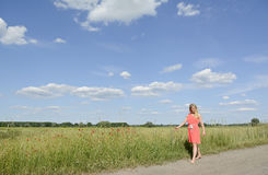 Lonely young woman Stock Image