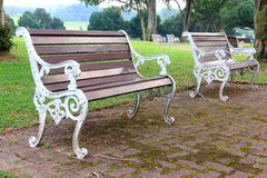Lonesome benches Royalty Free Stock Images