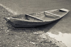 Lonesome boat Royalty Free Stock Photo