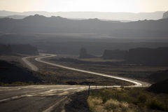 Lonesome Highway. I-70 interstate highway in Utah Stock Photo