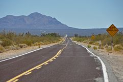 Lonesome highway in desert Stock Photography