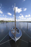 Lonesome sailboat Royalty Free Stock Photo