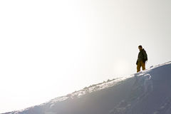 Lonesome snowboarder Royalty Free Stock Photo
