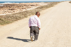 Lonesome walking royalty free stock images