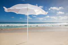 Lonesome white sunshade Stock Images
