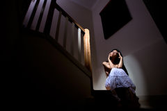 Lonesome woman Stock Photo