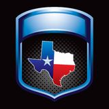 Lonestar state icon in blue display Stock Image