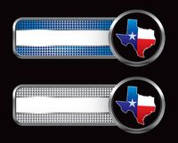 Lonestar state icon on striped banners Royalty Free Stock Images