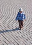 Loney child walking Stock Image
