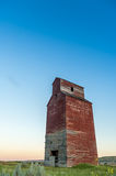 Long abandoned grain elevator Royalty Free Stock Photo