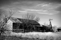 Mother Road Homestead. A long abandoned homestead sits alongside old Route 66 in the ghost town of Cuervo, New Mexico, USA Royalty Free Stock Photo