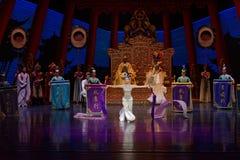 Long acte gainé de la danse de cour 2-The en second lieu : un festin dans le ` en soie de princesse de danse de ` palais-épique d Image libre de droits