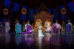 Long acte gainé de la danse de cour 2-The en second lieu : un festin dans le ` en soie de princesse de danse de ` palais-épique d Images stock