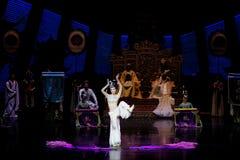 Long acte gainé de la danse de cour 3-The en second lieu : un festin dans le ` en soie de princesse de danse de ` palais-épique d Photos stock