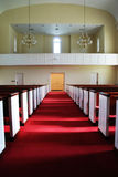 The Long Aisle. The center of a long aisle of a church royalty free stock images