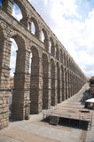 Long ancient aqueduct Royalty Free Stock Photography