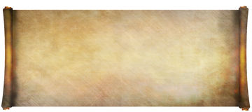 Long ancient scroll Royalty Free Stock Photography