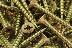 A long anodized screws Royalty Free Stock Photos