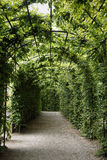 Long arch in garden Royalty Free Stock Photography