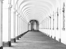 Long archway corridor Royalty Free Stock Photo