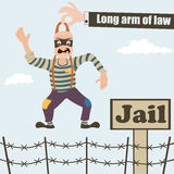 Long arm of law Stock Images