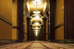 Long Art Deco Corridor Photographie stock