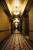 Long Art Deco Corridor. In Hotel Royalty Free Stock Image