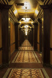 Long Art Deco Corridor Stock Photo