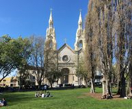 Saints Peter and Paul Church, San Francisco. royalty free stock images