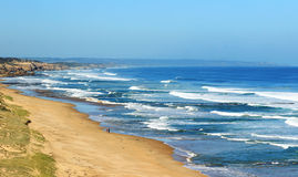 Long australian beach at the ocean Stock Photo