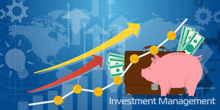 Long Background Investment Management Royalty Free Stock Photography