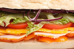 Long baguette sandwich Stock Photography