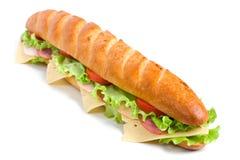 Long baguette sandwich Stock Photos