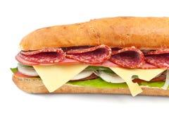 Long baguette sandwich Stock Image