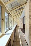 Long balcony (gallery) interior Royalty Free Stock Image