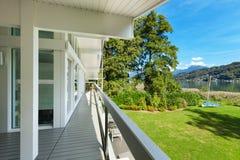 Long balcony of a villa Royalty Free Stock Photos