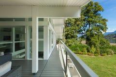 Long balcony of a villa Royalty Free Stock Photography