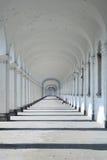 Long Baroque Arcade Royalty Free Stock Photography