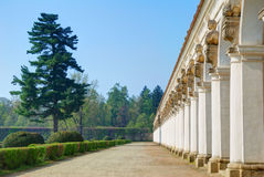 Long baroque colonnade Stock Photography