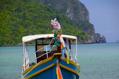 Long bateau Photographie stock